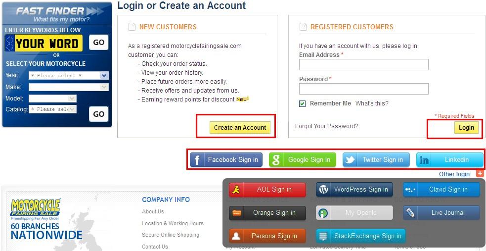 iniciar sesión o crear una cuenta